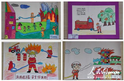 幼儿园绘画作品大全消防
