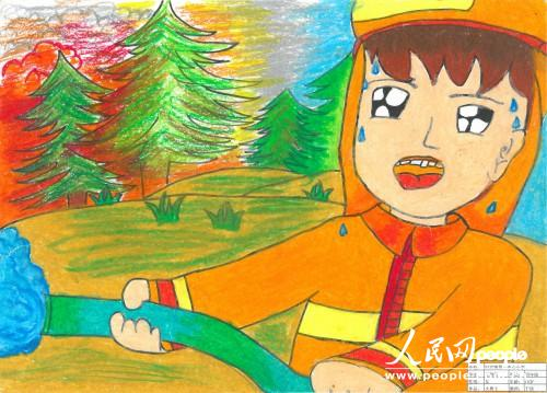 我心中的消防绘画作品_祖国在我心中绘画作品