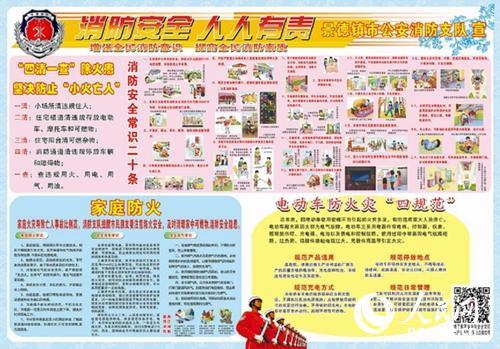 江西景德镇支队宣传持续发力 2万份宣传海报惠及百万群众