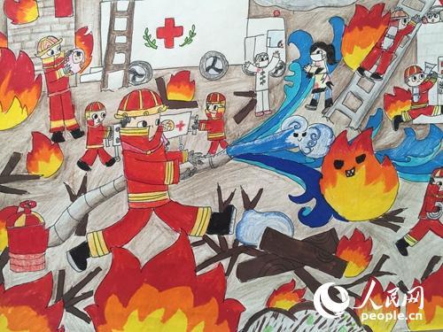 是小小消防员 绘画作文征集评选活动