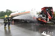 达州消防处置天然气泄漏事故
