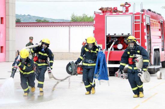 天水消防提升夏训实效